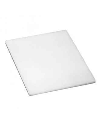 """Planche à découper en polyéthylène 10"""" x 6"""" - Blanc"""