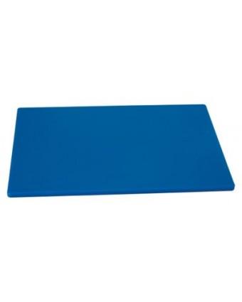 """Planche à découper en polyéthylène 18"""" x 12"""" - Bleu"""