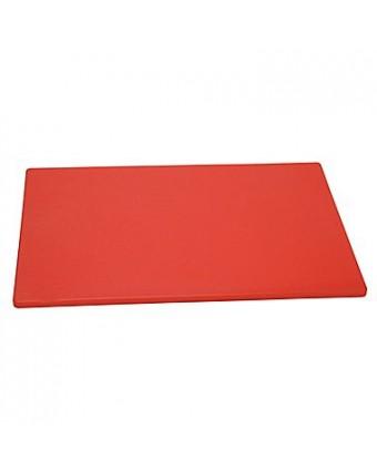 """Planche à découper en polyéthylène 18"""" x 12"""" - Rouge"""