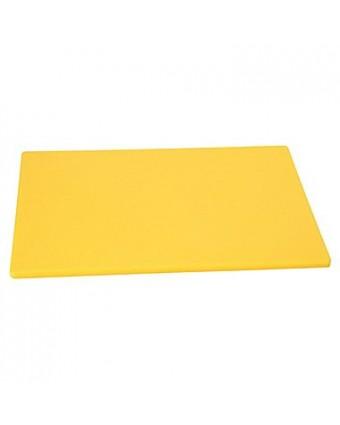 """Planche à découper en polyéthylène 24"""" x 18"""" - Jaune"""