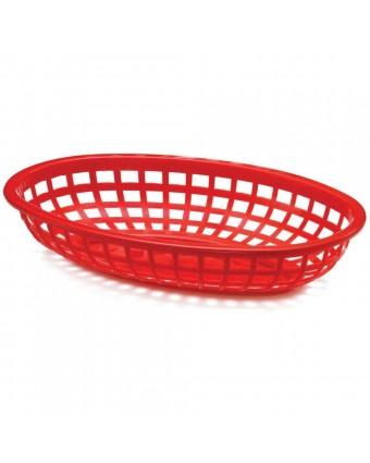 "Panier en polyéthylène ovale 9,25"" x 6"" - Rouge"