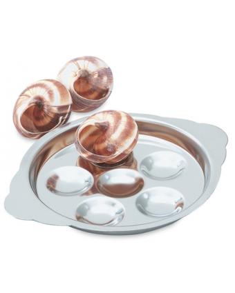 Assiette à escargots en acier inoxydable