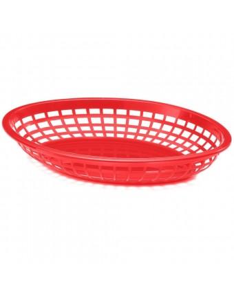 """Panier en polypropylène ovale 11,4"""" x 8,9"""" - Rouge"""