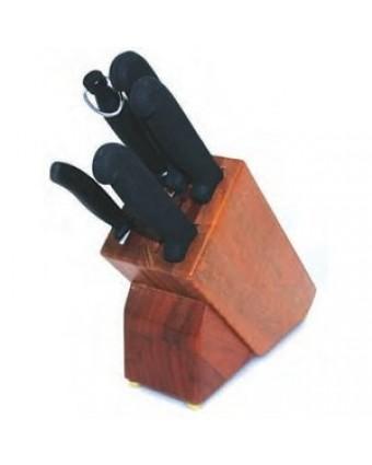 Ensemble de couteaux six pièces avec bloc