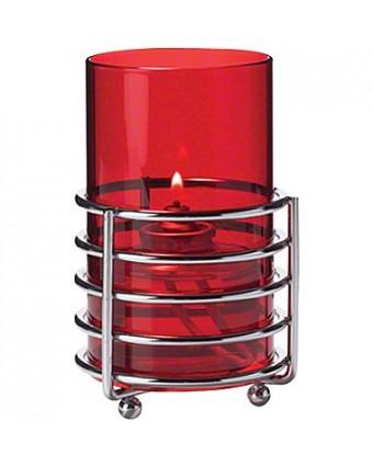 Globe rouge pour chandelle liquide jetable