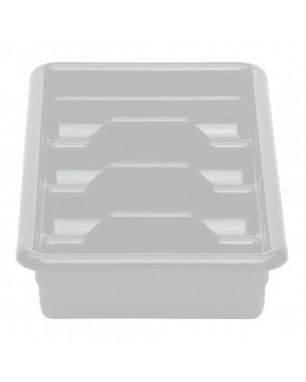Bac à coutellerie en plastique à quatre compartiments - Gris clair