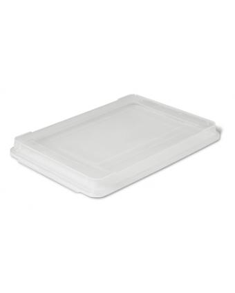 Couvercle en plastique pour récipient en acier inoxydable - Demi-grandeur