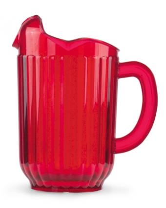 Pichet en polycarbonate Traex Tuffex 60 oz - Rouge