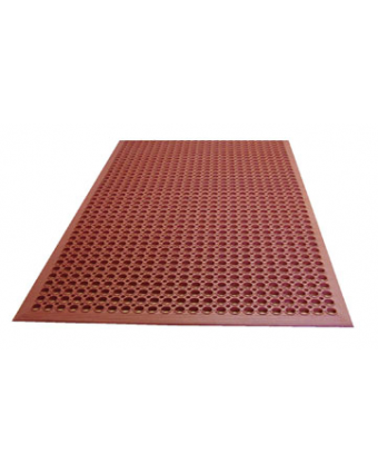 "Tapis anti-fatigue en caoutchouc 60"" x 36"" - Rouge"