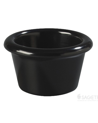Récipient à condiment en plastique 2 oz - Noir