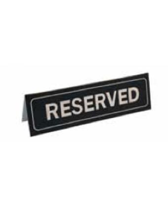 Enseigne de table en plastique « Reserved »