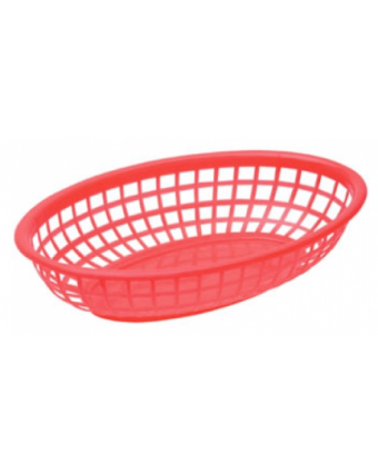 "Panier en polyéthylène ovale 7,75"" x 5,5"" - Rouge"