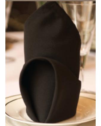 Serviette de table en polyester Harmony - Noir