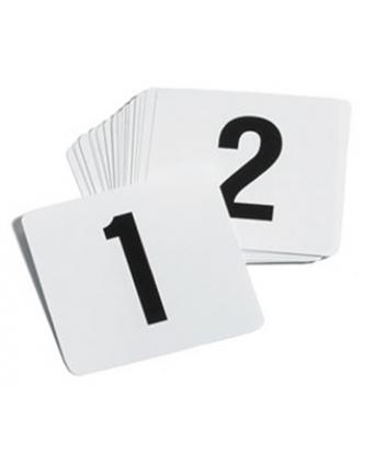 Cartes numérotées 1 à 25