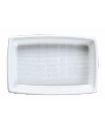 Récipients à entrée en plastique rectangulaires jetables (caisse de 2000)