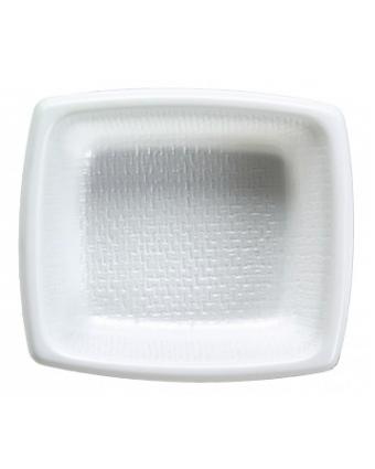 Récipients à accompagnement en plastique rectangulaires jetables (caisse de 6000)