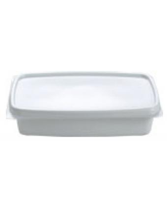 Assiettes creuses en plastique rectangulaires jetables (caisse de 1000)