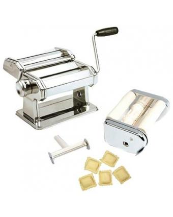Laminoir à pâte et à raviolis Gourmet Combo - Acier inoxydable
