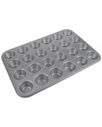 Moule à mini-muffins en acier aluminisé