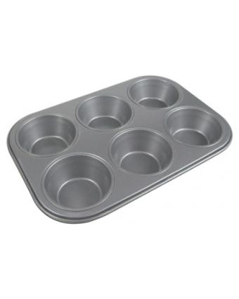Moule à gros muffins en acier aluminisé