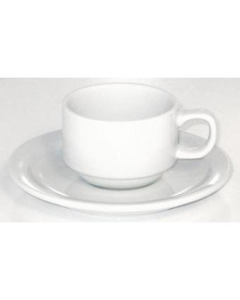 Ensemble de six tasses en porcelaine 3 oz avec soucoupes