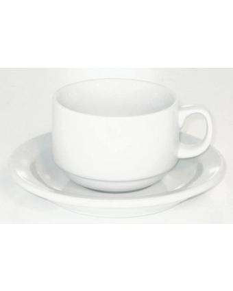 Ensemble de six tasses en porcelaine 8 oz avec soucoupes