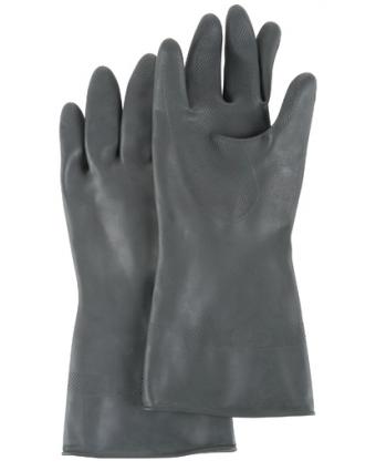 """Gant en latex de caoutchouc 12"""" - Noir"""