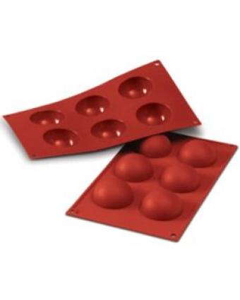 Moule en silicone à six cavités - Semisfera 60 ml