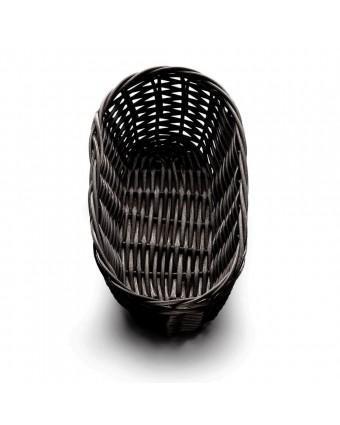 """Panier en polypropylène ovale 9"""" x 3,5"""" - Noir"""
