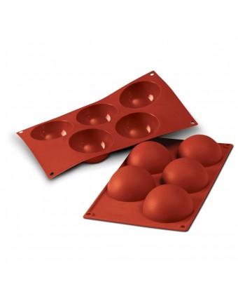 Moule en silicone à cinq cavités - Semisfera 120 ml