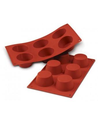 Moule en silicone à six cavités - Muffins 100 ml