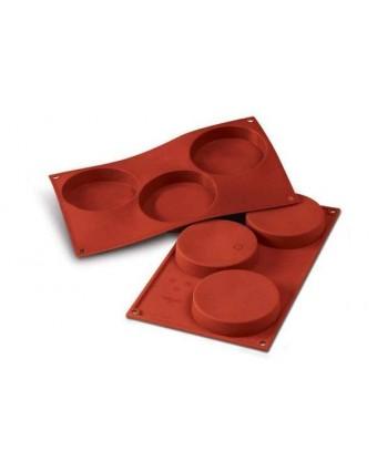 Moule en silicone à trois cavités - Disco Per Biscotti