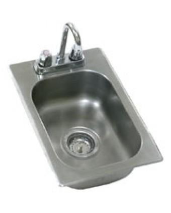 """Évier simple encastrable avec robinet 14"""" x 10"""" x 9,5"""""""