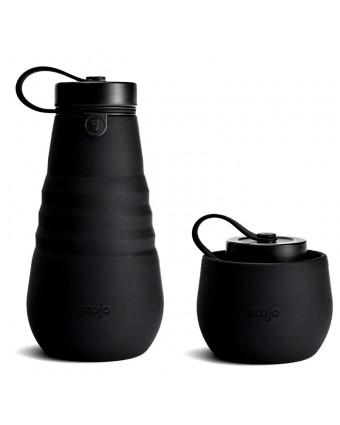 Bouteille pliante en silicone - Noir