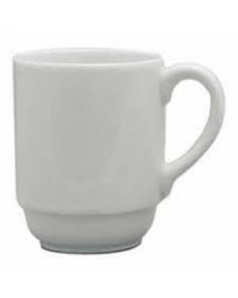 Mug empilable en porcelaine 10 oz - Blanco