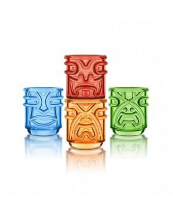 Ensemble de quatre verres Tiki 12 oz