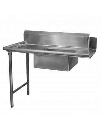 """Table de lavage pour vaisselle souillée 36"""" x 30"""" - Gauche"""