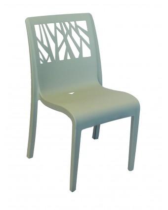 Chaise en résine Vegetal - Vert sauge