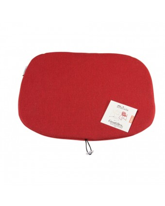Coussin Ramatuelle 73' - Chine rouge