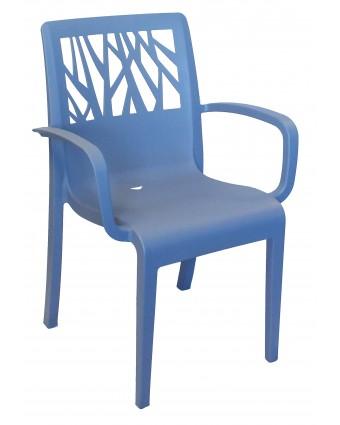 Chaise d'extérieur avec appuis-bras Vegetal - Bleu