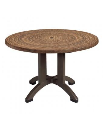 "Table d'extérieur ronde Sumatra 42"" - Osier"