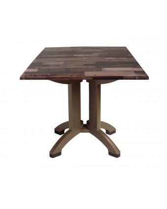 Table d'extérieur carrée Atlanta 32'' – Latte de bois