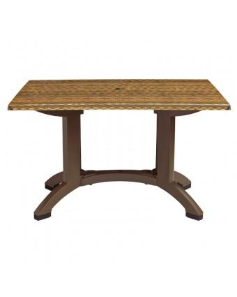 """Table d'extérieur rectangulaire Sumatra 32"""" x 48"""" - Osier"""