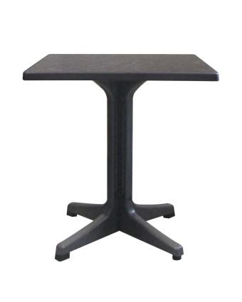 Table d'extérieur carrée Omega 28'' - Béton foncé et charbon