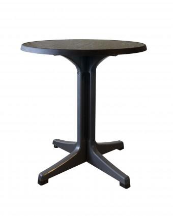 Table d'extérieur ronde Omega 28'' - Béton foncé et charbon