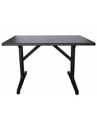 Table d'extérieur rectangulaire Omega 45'' x 28'' - Béton foncé et charbon