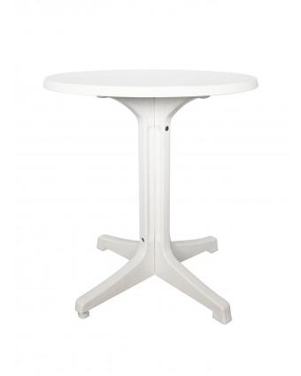 Table d'extérieur ronde Omega 24'' - Marbre et blanc