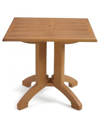 """Table d'extérieur carrée Winston 36"""" - Teck"""