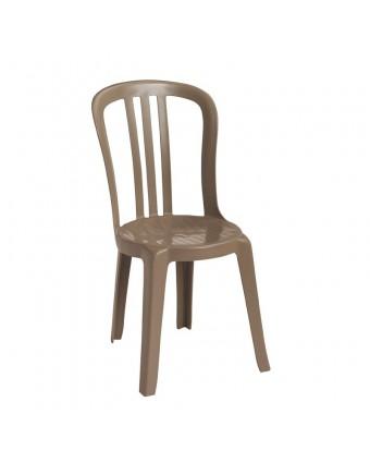 Chaise en résine Bistro Miami - Taupe