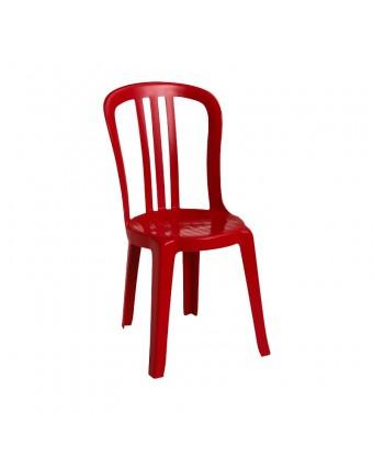 Chaise en résine Bistro Miami - Rouge